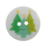 Trimits Christmas Printed Button - Trees, size 23mm