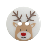 Trimits Christmas Printed Button - Rudolph, size 23mm