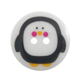 Trimits Christmas Printed Button - Penguin, size 23mm
