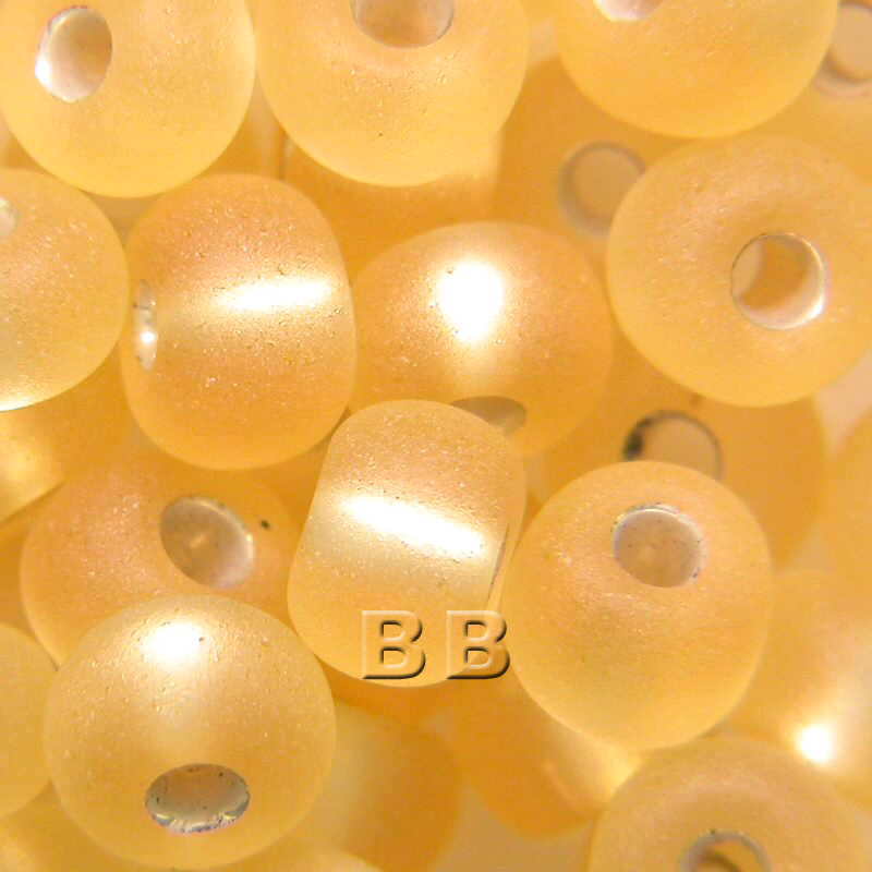 Boundless Beads Light Topaz Silver Lined Matt 5/0