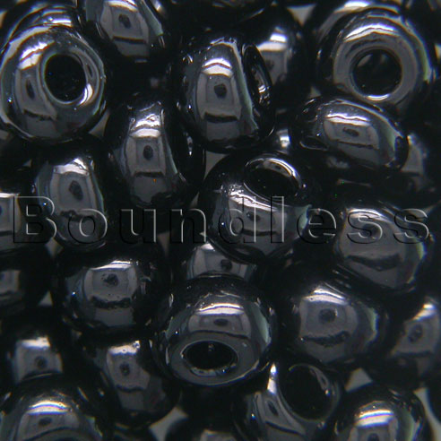 Boundless Beads Black Opaque 5/0