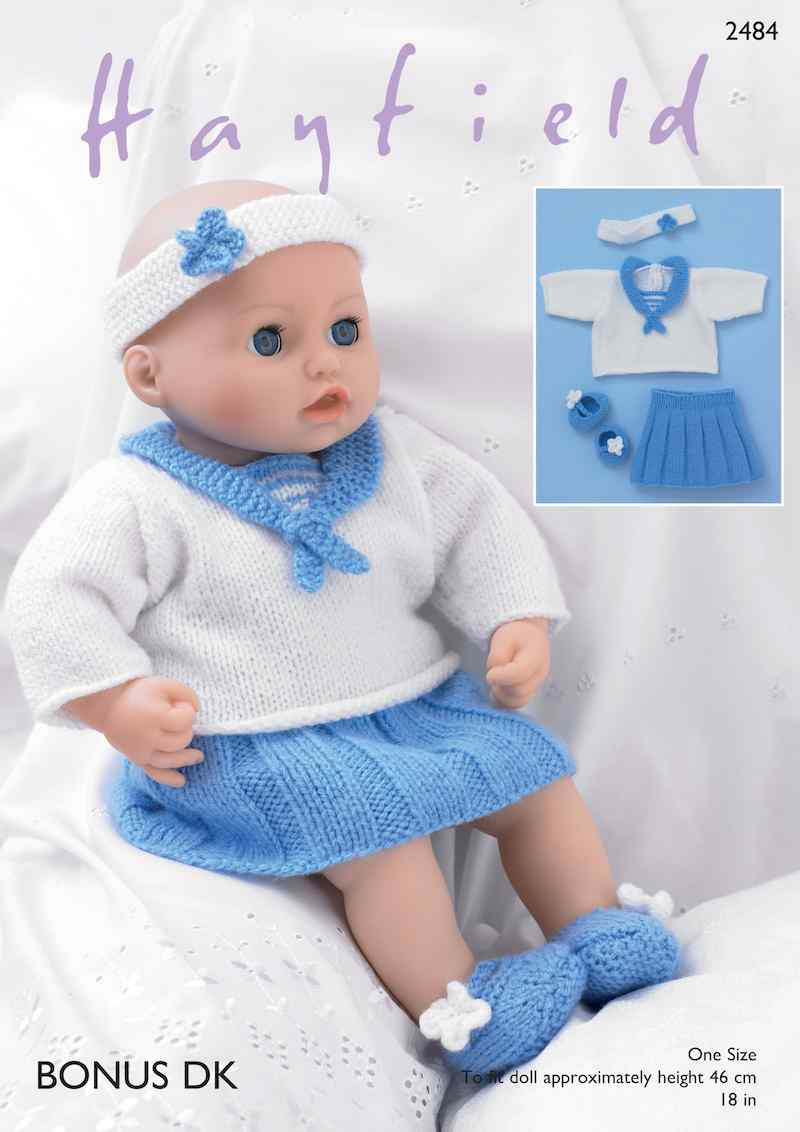 Hayfield Bonus DK 2484 Baby Doll Sailor Outfit