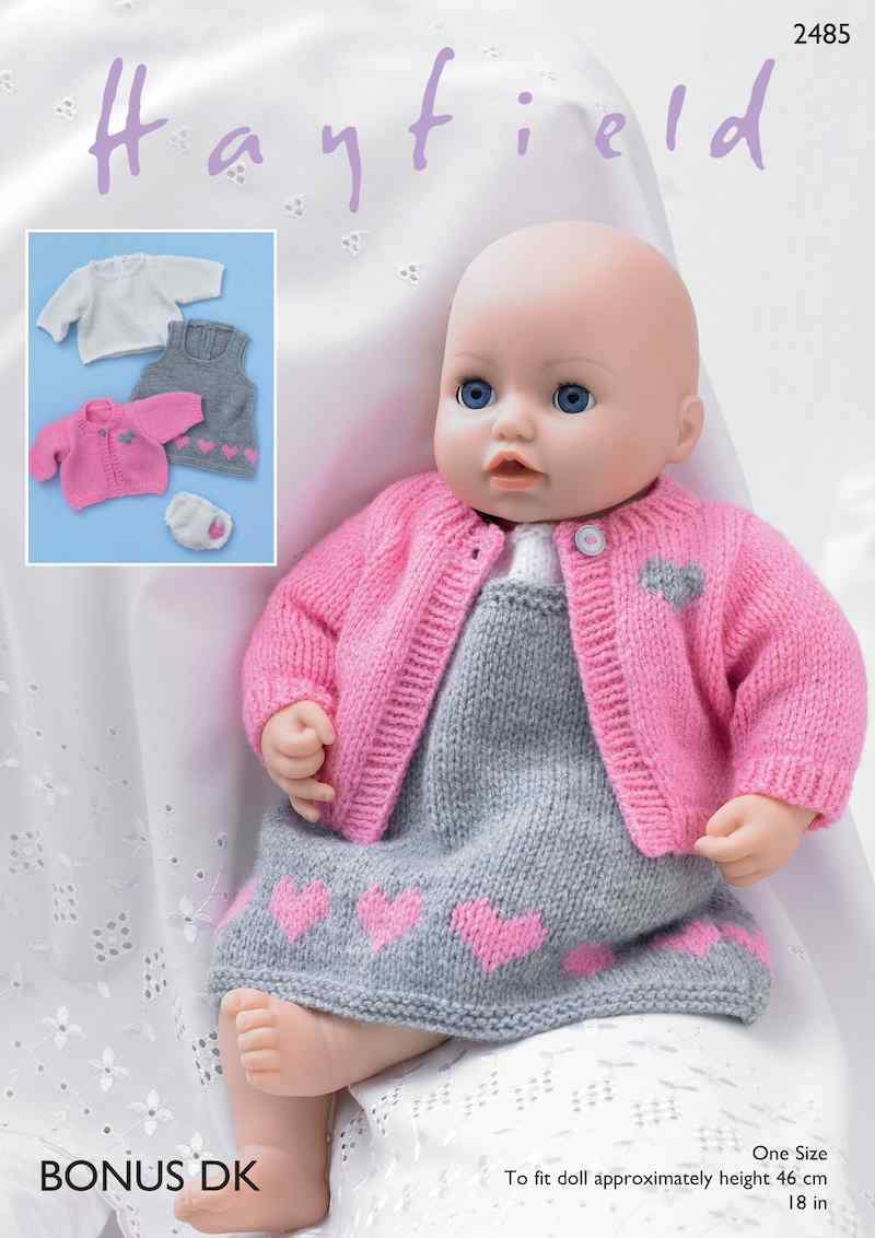 Hayfield Bonus DK 2485 Baby Doll Pinafore Outfit