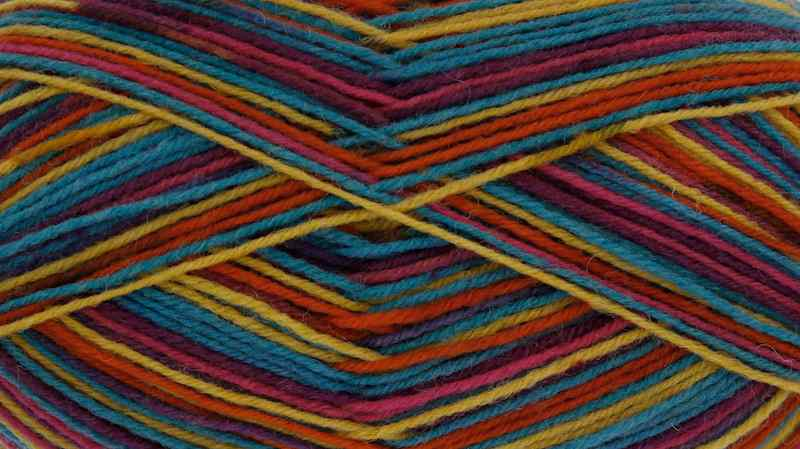 King Cole Zig Zag 4ply Sock Yarn 3242 Kaleidoscope
