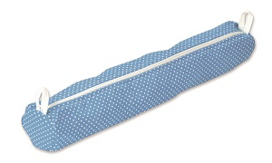 Aumuller Korbwaren Knitting Needle Case, Polka dot blue