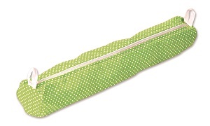 Aumuller Korbwaren Knitting Needle Case, Polka Dot Green
