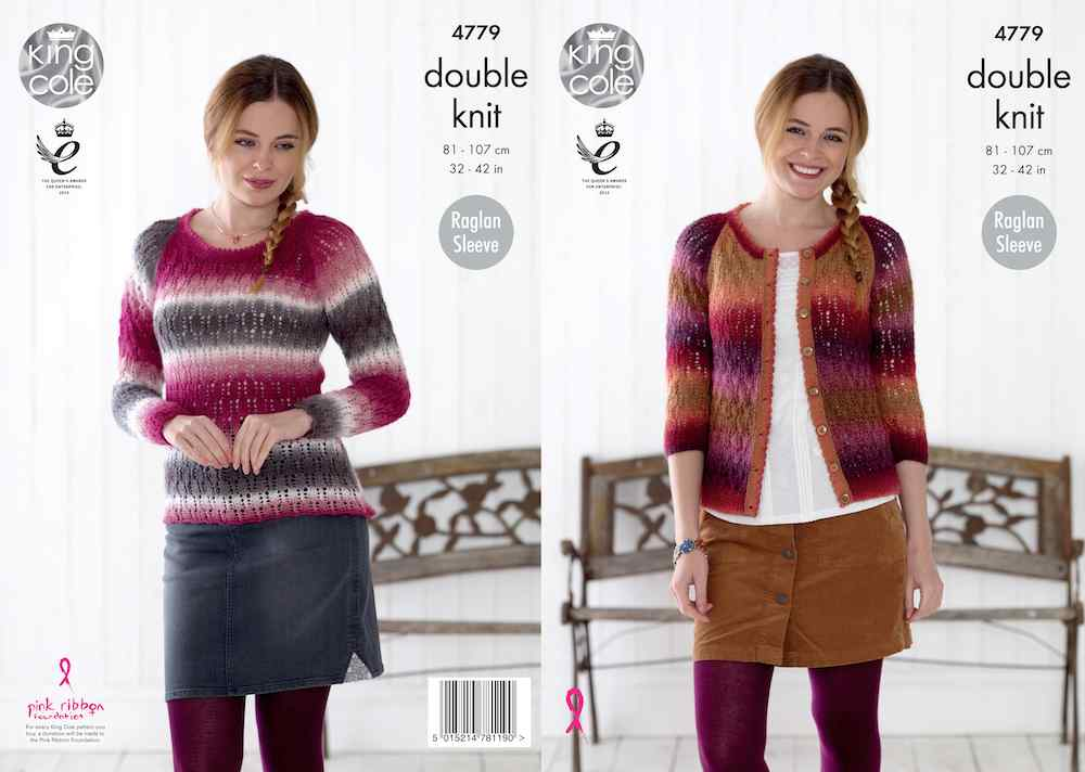 King Cole Pattern No. 4779 Sweater & Cardigan (DK)