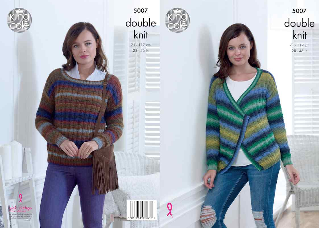 King Cole Pattern No. 5007 Cardigan & Sweater (DK)