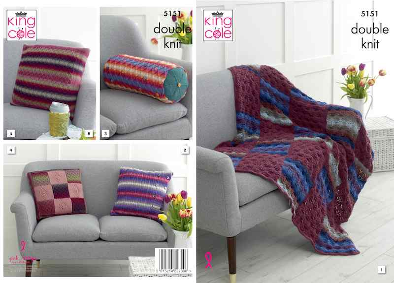 King Cole Pattern No. 5151 Interior Accessories (DK)