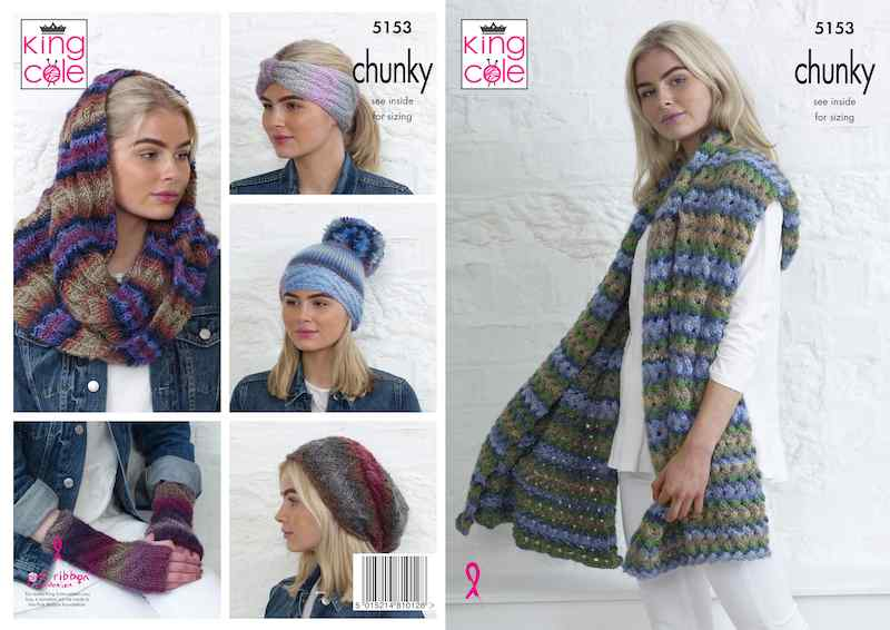 King Cole Pattern No. 5153 Apparel Accessories (Chunky)