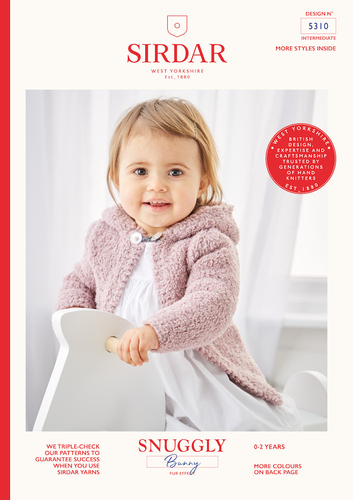 Sirdar Snuggly Bunny 5310 Round Neck and Hooded Jacket