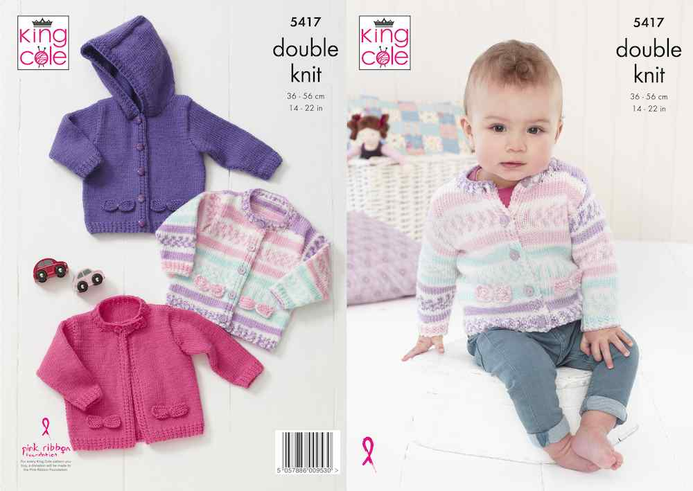 King Cole Pattern No. 5417 Babies Cardigans