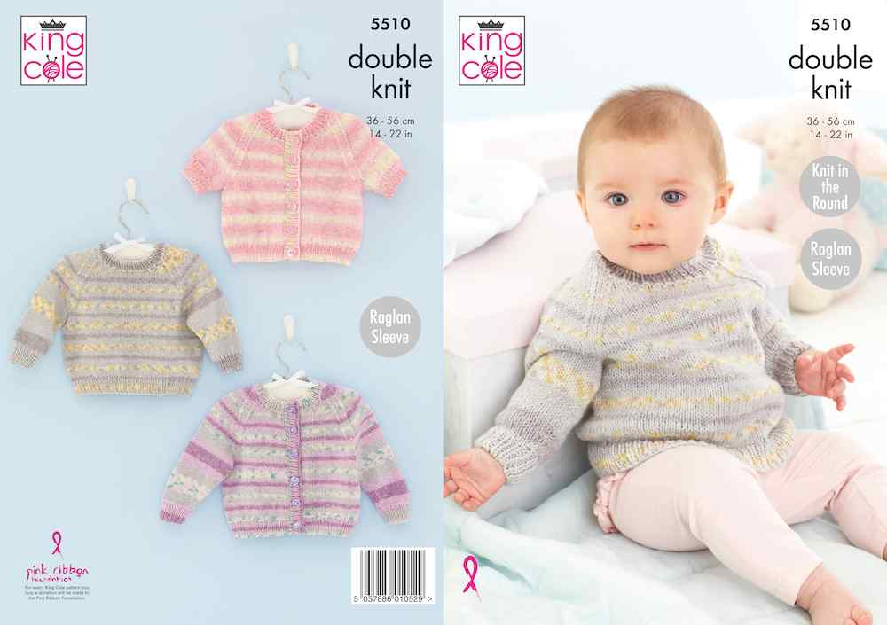 King Cole Pattern No. 5510 Cardigan & Sweater (DK)