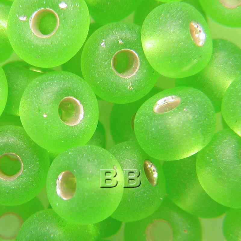 Boundless Beads Lime Silver Lined Matt 5/0