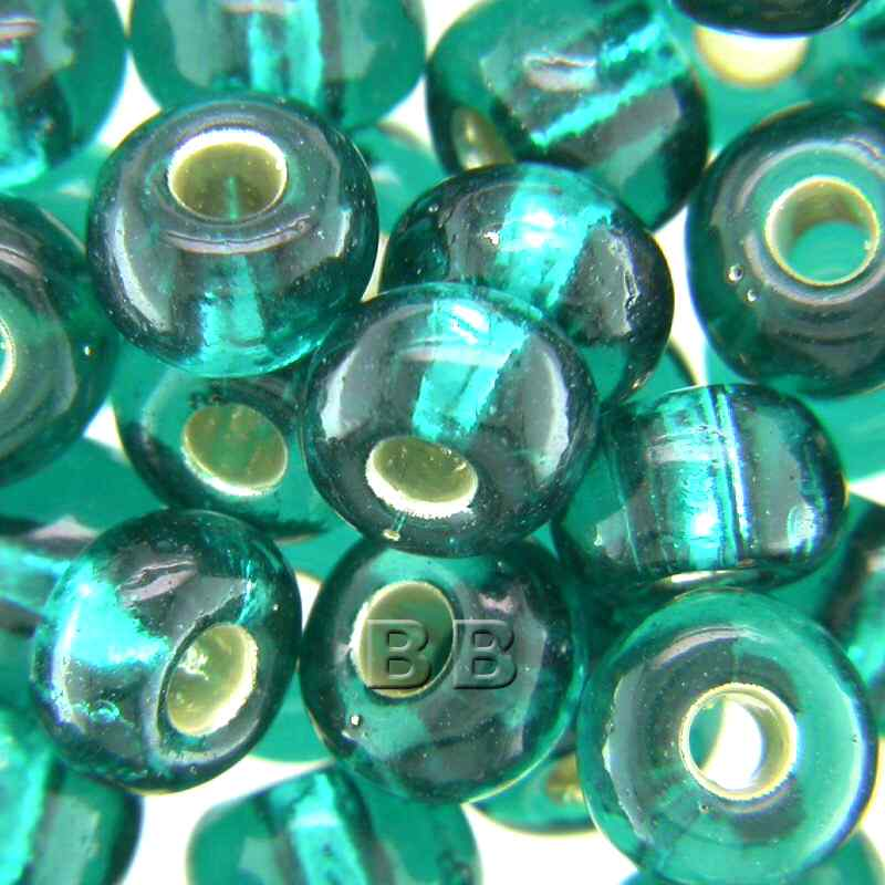 Boundless Beads Teal Silver Lined 5/0