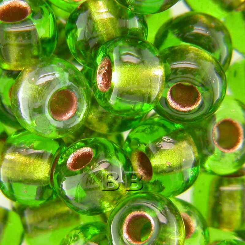 Boundless Beads Lime Copper Lined 5/0
