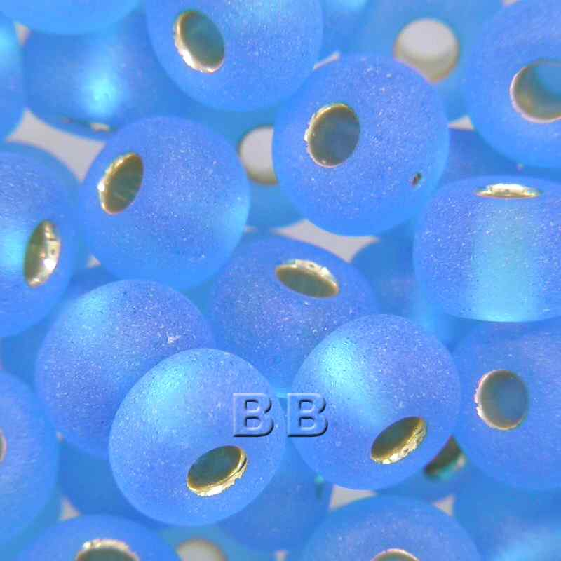 Boundless Beads Aqua Silver Lined Matt 5/0