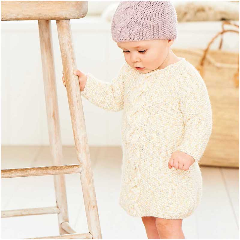 Rico Baby Dream DK 1040 Sweater, Dress and Hat