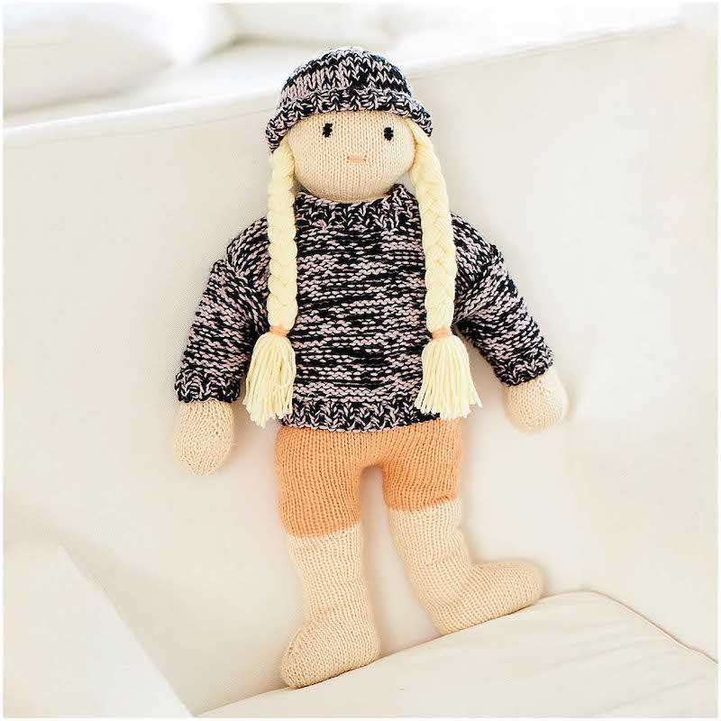 Rico Baby Dream DK 1042 Doll, Sweater and Hat
