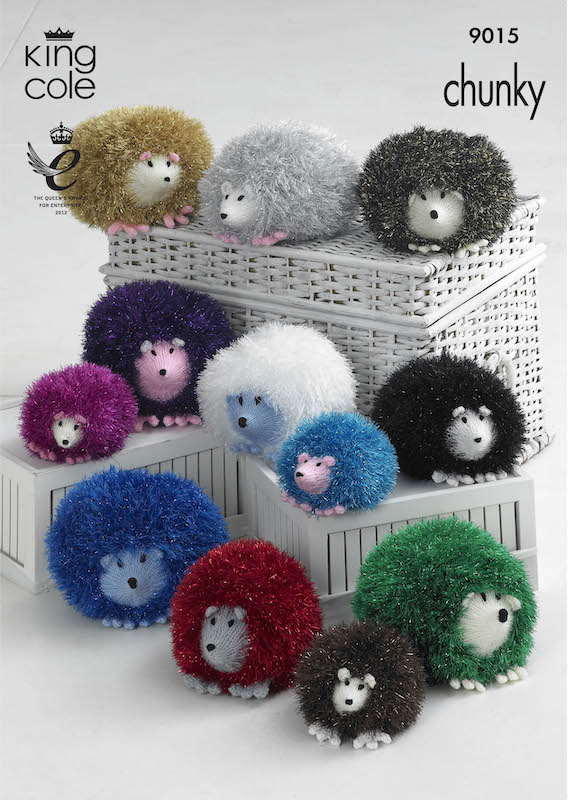 King Cole Pattern No. 9015 Hedgehogs in Tinsel Chunky