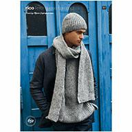 Rico Luxury Alpaca Aran 652 Relaxed Brioche Sweater, Scarf & Hat