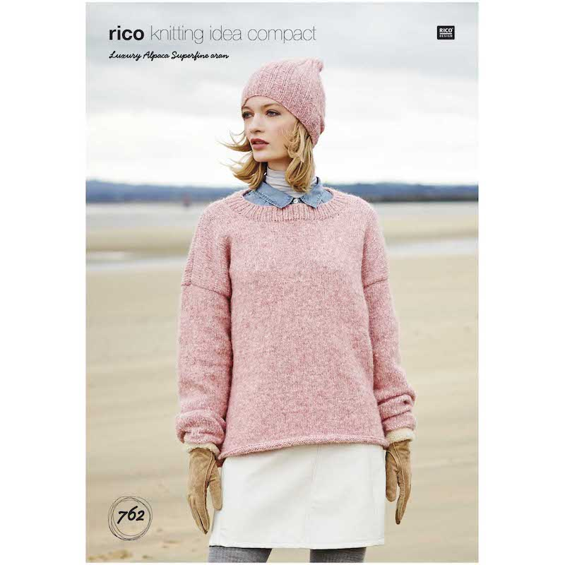 Rico Luxury Alpaca Superfine Aran 762 Sweater & Hat