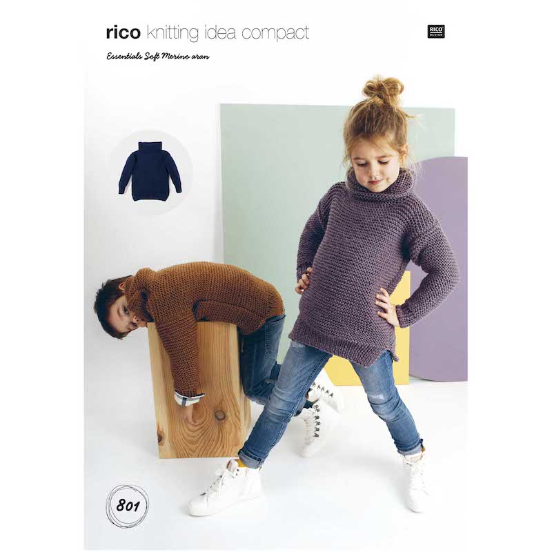 Rico Essentials Soft Merino Aran 801 Sweater