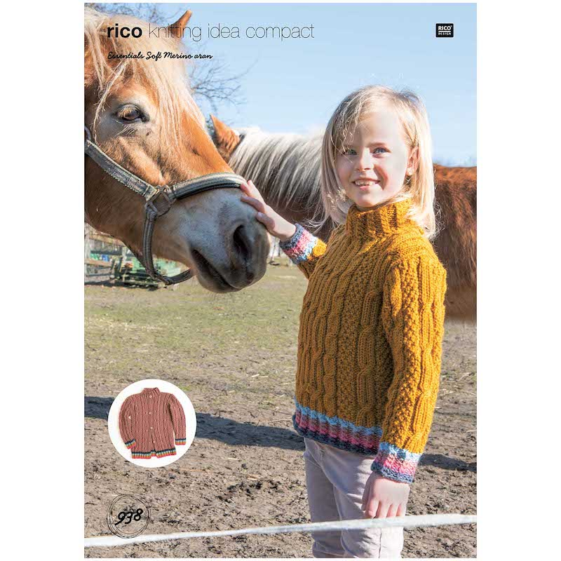 Rico Essentials Soft Merino Aran 938 Sweater & Cardigan