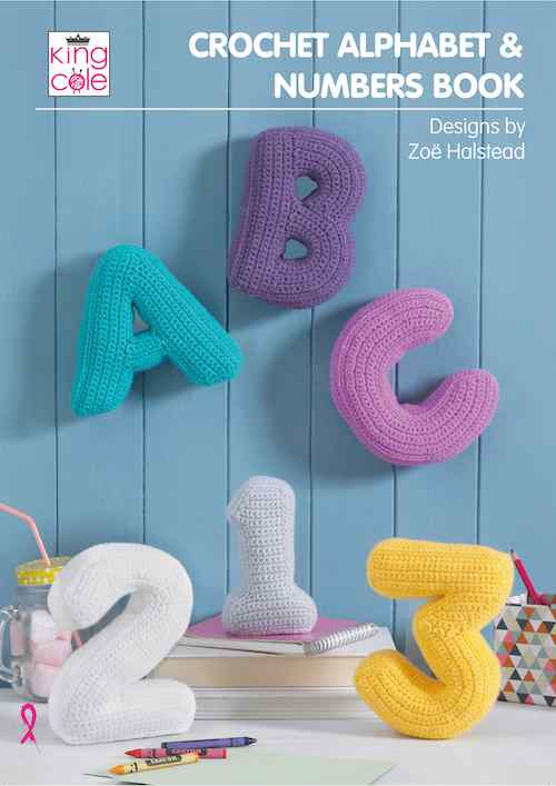 King Cole Crochet Alphabet & Numbers Book