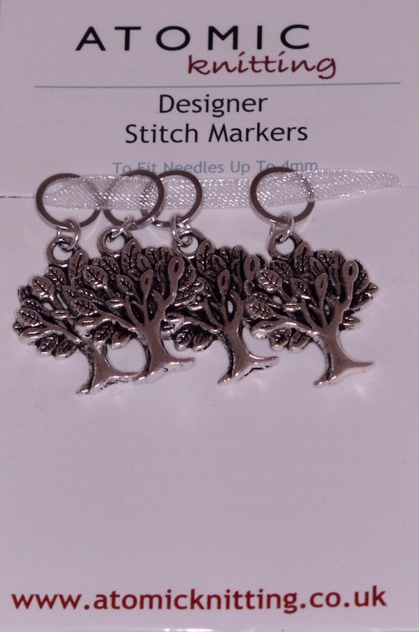 Atomic Knitting 4mm Tree Charms Stitch Markers
