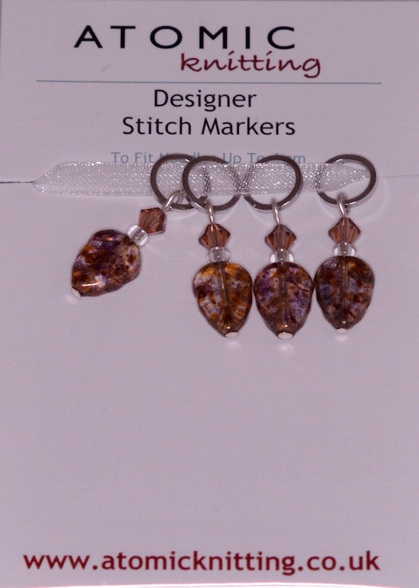 Atomic Knitting 4mm Leaf Stitch Markers