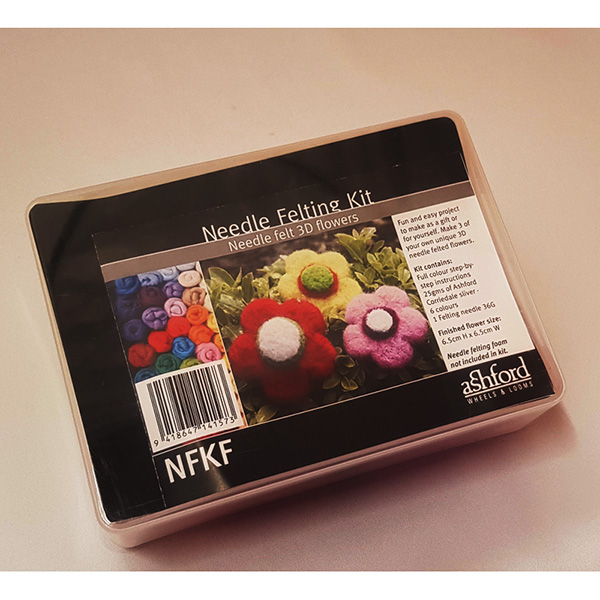 Ashford Needle Felting Kit - 3D Flowers