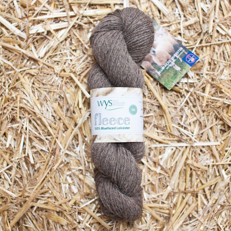 WYS BFL Roving Fleece 003 Brown