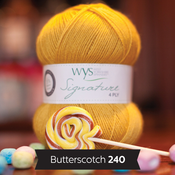 WYS Signature 4ply Sweet Shop Range 240 Butterscotch