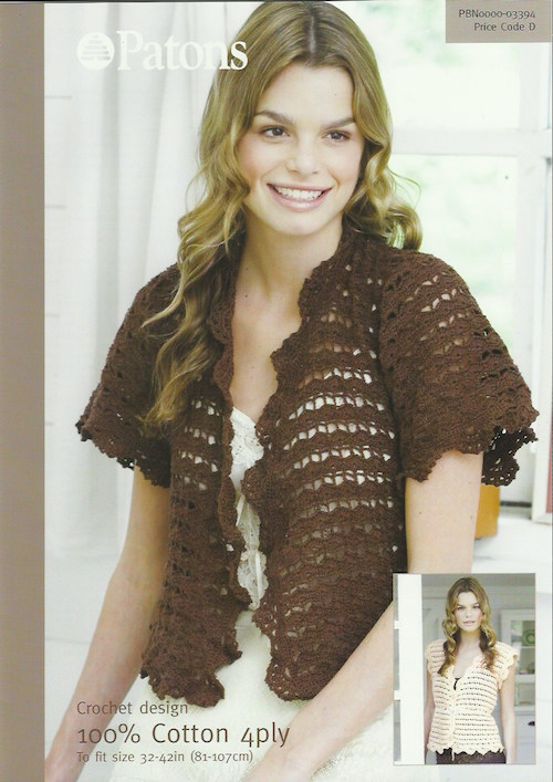 Patons Crochet Cardigan and Vest 03394