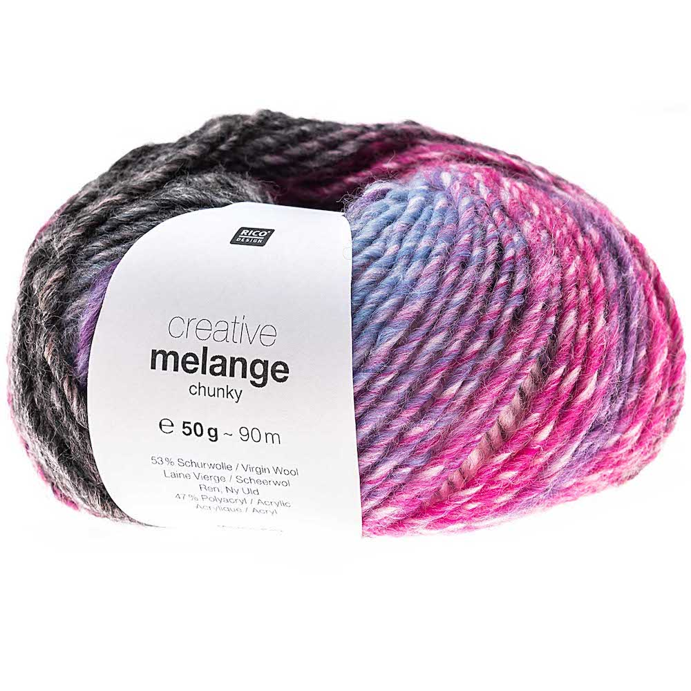 Rico Creative Melange Chunky 061 Purple/Fuchia Mix
