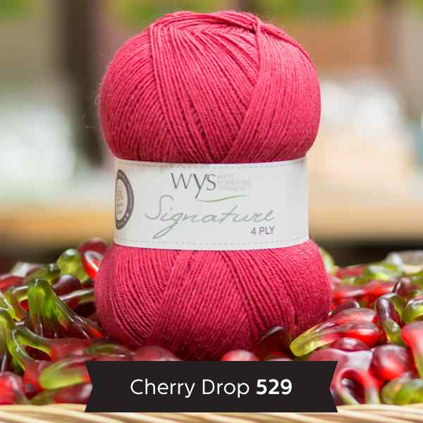 WYS Signature 4ply Sweet Shop Range 529 Cherry Drop
