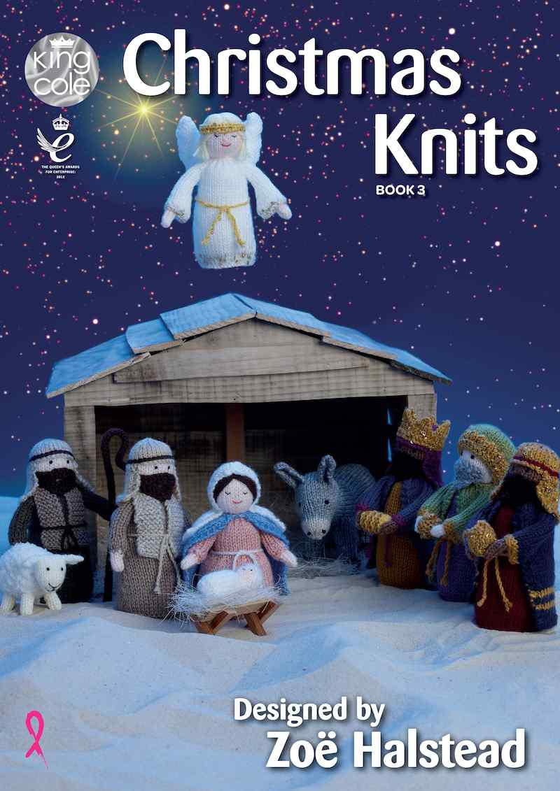 King Cole Christmas Knits Book 3 designed by Zoe Halstead