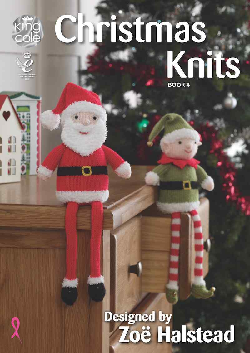 King Cole Christmas Knits Book 4 designed by Zoe Halstead