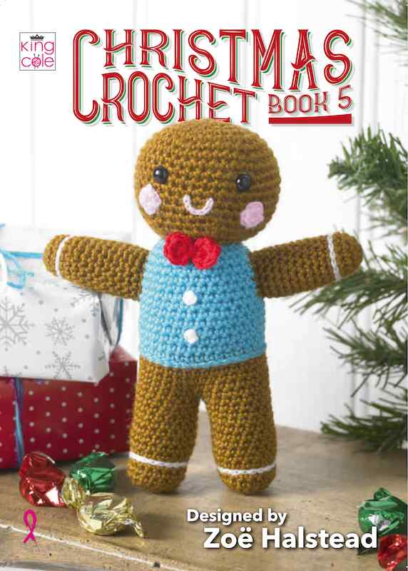 King Cole Christmas Crochet Book 5 designed by Zoe Halstead