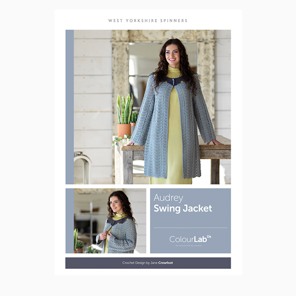 WYS ColourLab Audrey Swing Jacket Crochet Pattern