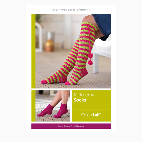 WYS ColourLab Melmerby Socks Crochet Pattern