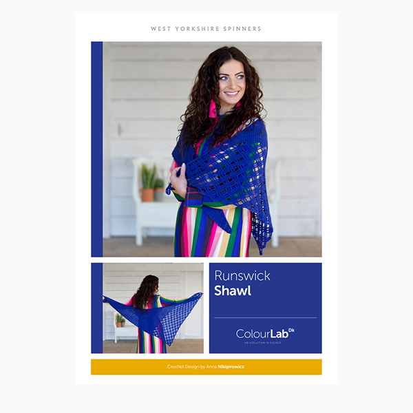 WYS ColourLab Runswick Shawl Crochet Pattern