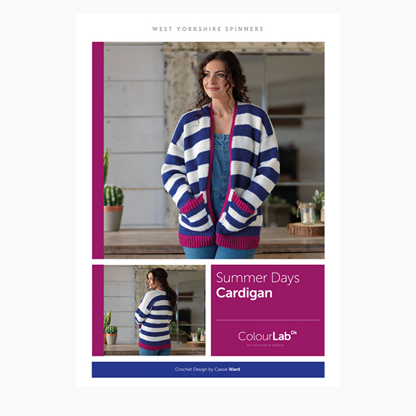 WYS ColourLab Summer Days Cardigan Crochet Pattern