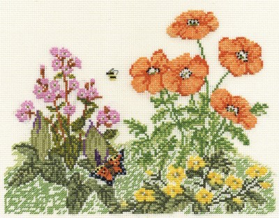 DMC Poppies and Butterflies (BK414)