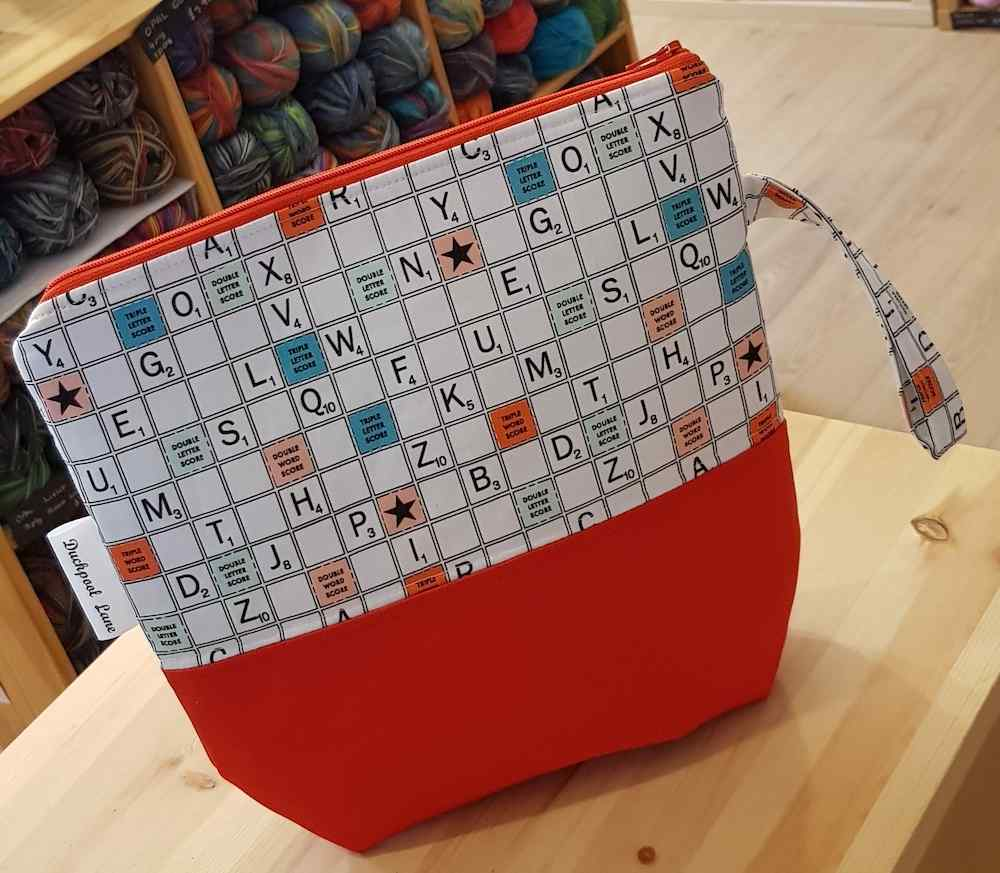 Medium Zipped Project Bag Scrabble