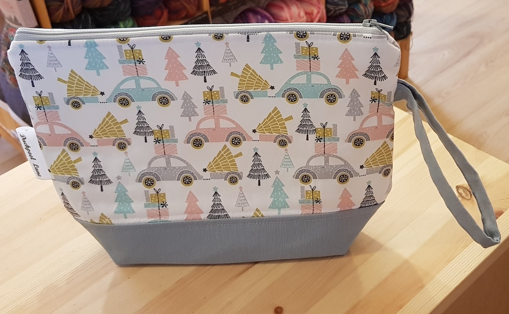 Small Zipped Project Bag Christmas Trees