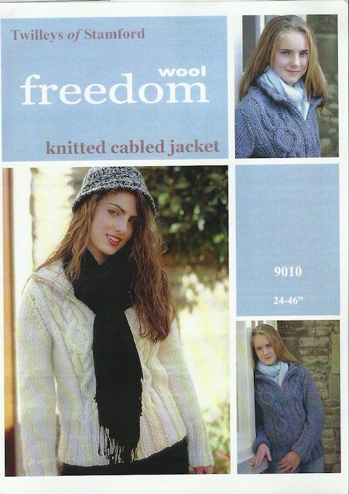 Twilleys of Stamford Freedom Wool 9010 Knitted Cabled Jacket