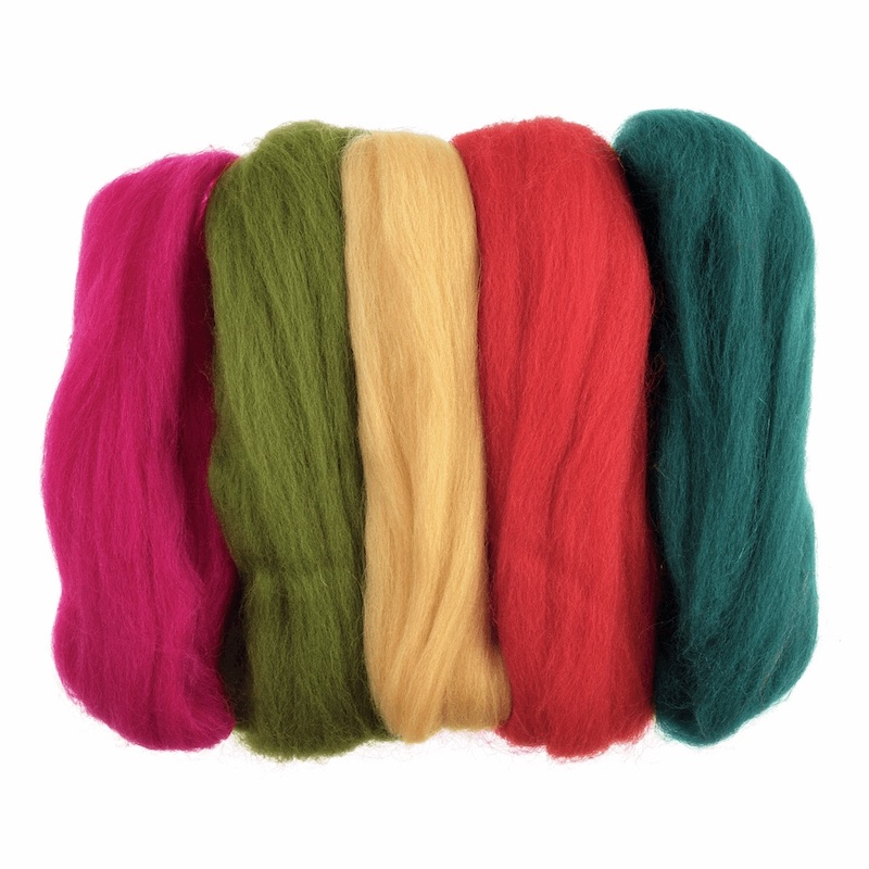 Trimits Natural Wool Roving Assorted - Bright