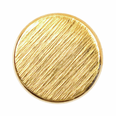 ABC Loose Buttons Gold Metal 15mm